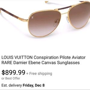 38e7e73d7d99 Louis Vuitton Accessories - Lois Vuitton Aviator sunglasses